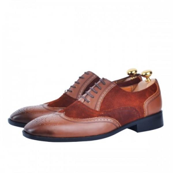 Chaussure Richelieu 100% cuir  tabac AG-1332-DT