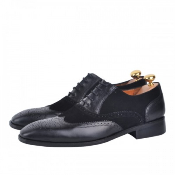 Chaussure Richelieu 100% cuir  Noir AG-1332-DN