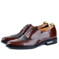 Derby richelieu en cuir Marron - Semelle confortable AD-M0539