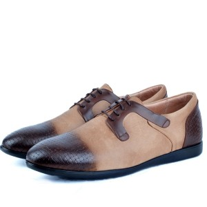 chaussure confortable 100% Cuir Tabac AR-4597