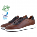 Baskets Pour Homme 100% Cuir EXTRA Confortable Tabac LO-766T