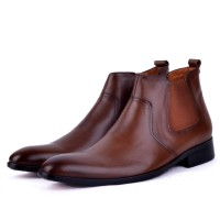 Boots classique100% cuir tabac HM-1010T