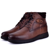 Boots confortable 100% cuir tabac XM-700T