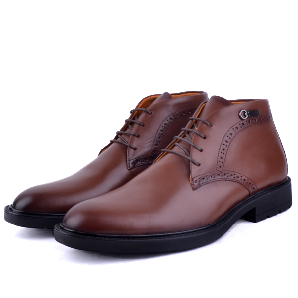 Bottines Pour Homme extra confortable en cuir tabac AD-1141T
