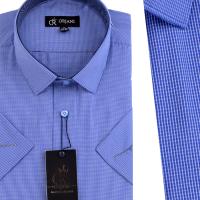 Chemise Pour Homme  Manches Courtes Bleu OR-075