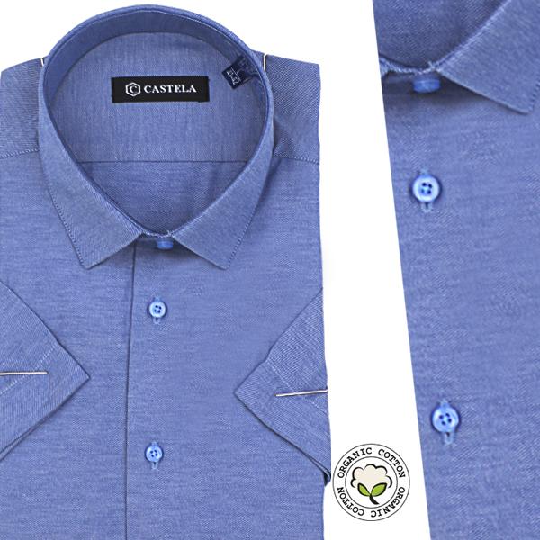 Chemise Pour Homme Manches Courtes - Bleu -CH-82