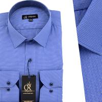 Chemise Pour Homme manches Longues Bleu OR-058