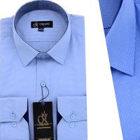 Chemise Pour Homme manches Longues Bleu Ciel OR-059