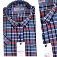 Chemise demi-manche Pour Homme Orjani à careau OR-013