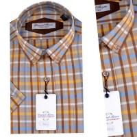Chemise demi-manche Pour Homme Orjani à careau OR-014