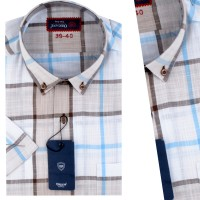 Chemise demi-manche Popeline 100% Lin OR-026