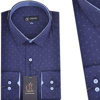 Chemise Pour Homme Orjani Bleu Marine avec motifs OR-003