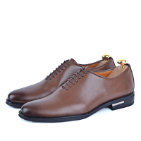 Chaussure classique en cuir Tabac AD-T1022