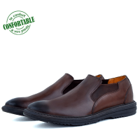 Chaussures 100% Cuir CRUST Pour Homme extra confortable Marron LO-084M