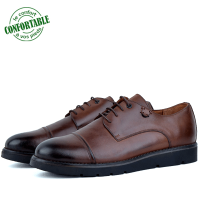 Chaussures 100% Cuir CRUST Pour Homme extra confortable  Marron LO-064M