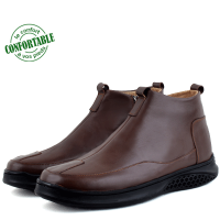 Bottines Médicales extra confortable en cuir Marron  NJ-3000M