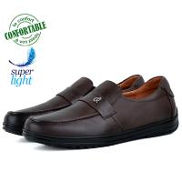 Chaussures Médicales confortables 100% cuir Marron KW-320M