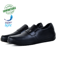 Chaussures Médicales confortables 100% cuir Noir KW-320N
