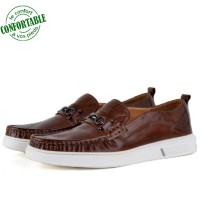 Chaussures Médicales Light 100% Cuir tabac NJ-041T