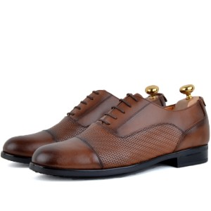 Chaussure Classique 100% cuir Tabac AG-1471-T