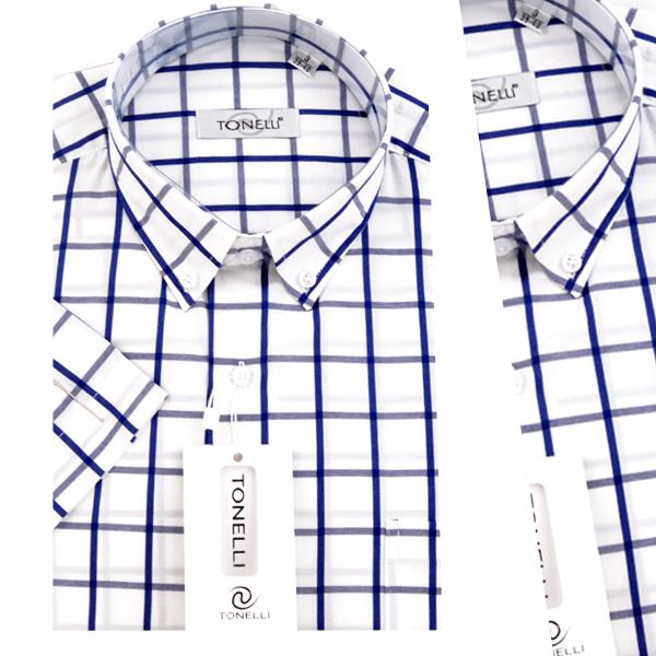 Chemise demi-manche en coton OR-043