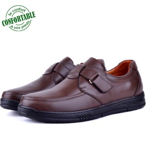 Chaussures Pour Homme Médicales 100% Cuir EXTRA Confortable  KW-309