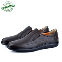 Chaussures MÉDICALES 100% Cuir Marron AD-1086M