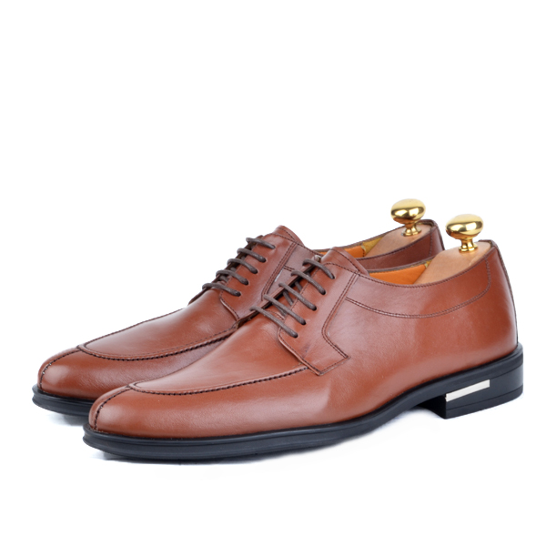 Chaussure classique en cuir Tabac AD-T1090