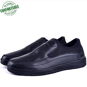 Chaussures Médicales 100% Cuir Noir NJ-2171