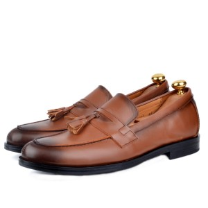Chaussure Classique 100% cuir Tabac  AG-061-T