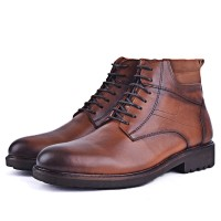 Boots confortable 100% cuir tabac XM-241T
