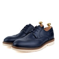 Derby richelieu en cuir Bleu - Semelle Extra-light confortable AM-B0098
