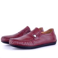 Chaussures Médicales Light 100% Cuir Bordeaux NJ-044B
