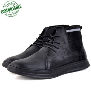 Boots confortables Pour Homme 100% cuir Nubuck KW-760NW