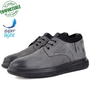 Chaussures 100% Cuir Médical Extra-light KW-805G